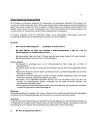 Leitlinie: Diagnostik und Therapie der Malaria Es ist Anliegen der ...