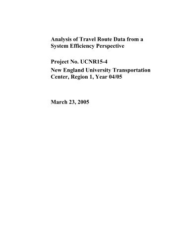 Travel Habits Survey 2002 - Connecticut Transportation Institute ...