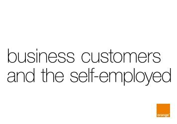 business customers and the self-employed - Orange