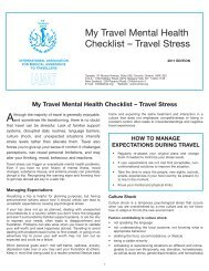 Travel Stress - International Association for Medical Assistance to ...