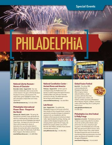 Special Events - Philadelphia Convention and Visitors Bureau