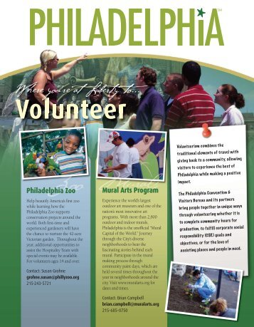 Volunteer FINALB:Layout 1 - Philadelphia Convention and Visitors ...
