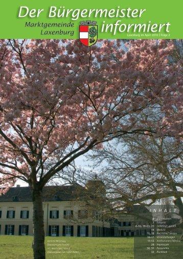 Der Bürgermeister informiert, Folge 2, April 2010, (10 - in Laxenburg