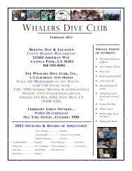 February 2012 - Whalers Dive Club