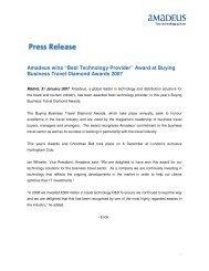 Award at Buying Business Travel Diamond Awards 2007
