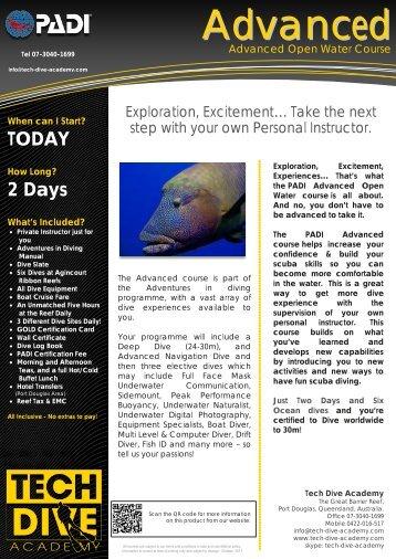 Advanced Open Water Course - Tech Dive Academy