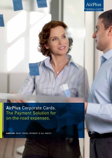 AirPlus Corporate Card Brochure - Event Advantage Solutions