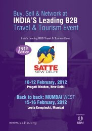 India's Leading B2B Travel & Tourism Event - SATTE
