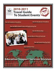 Travel Guide To Student Events - San Bernardino County ...
