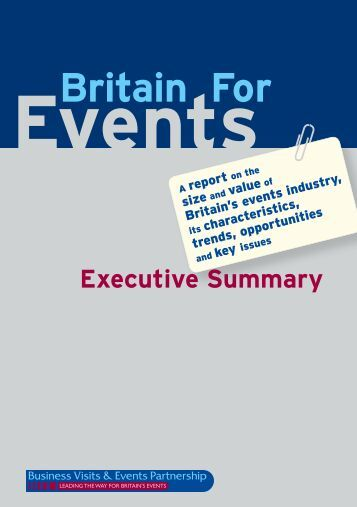 Executive Summary - Business Visits & Events Partnership