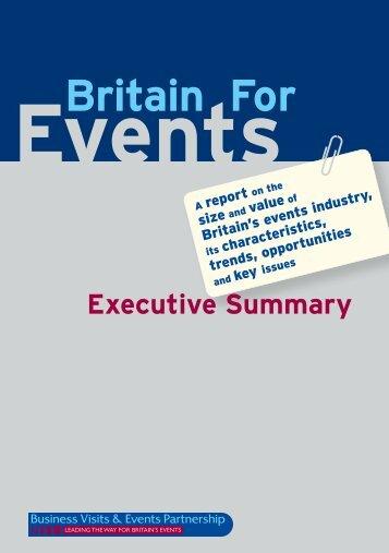 Executive Summary - Business Visits & Events Partnership