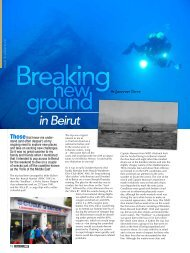 in Beirut - National Institute for Scuba Diving