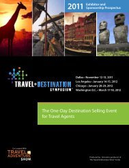 The One-Day Destination Selling Event for Travel Agents