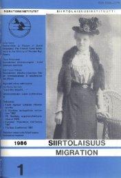 1986 - 1 - Siirtolaisuusinstituutti