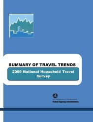 SUMMARY OF TRAVEL TRENDS - National Household Travel Survey