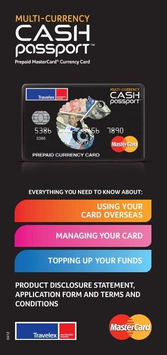 Multi-Currency Cash Passport PDS - Travelex Australia