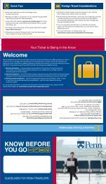 KNOW BEFORE YOU GO - Penn Purchasing Services