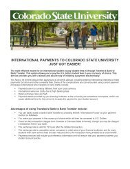 information - International Student & Scholar Services - Colorado ...