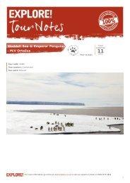 Trip Notes for Weddell Sea & Emperor Penguins - M/V ... - Explore