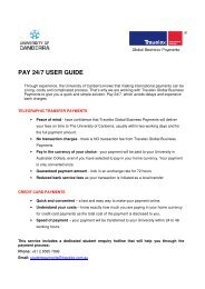 PAY 24/7 USER GUIDE - University of Canberra
