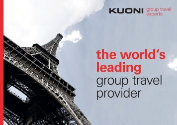 Kuoni Group Travel Experts supplier brochure (English) Download