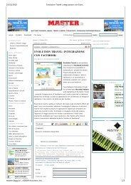 Evolution Travel: integrazione con Facebook - Internet e Informatica ...