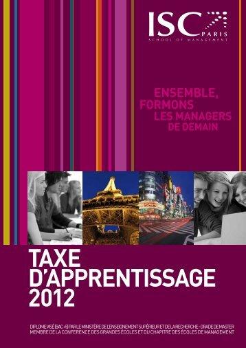 taxe d'apprentissaGe 2012 - ISC Paris Alumni