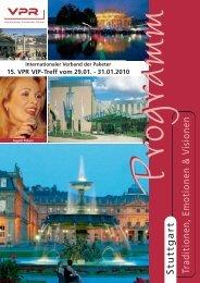Stuttgart Traditionen, Emotionen & V isionen - VPR