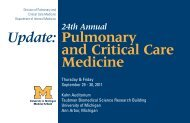 Pulmonary and Critical Care Medicine Update: - University of Michigan