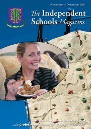 November ~ December 2011 - Independent Schools Magazine