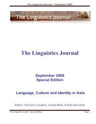 The Linguistics Journal September 2009 Special Edition Language
