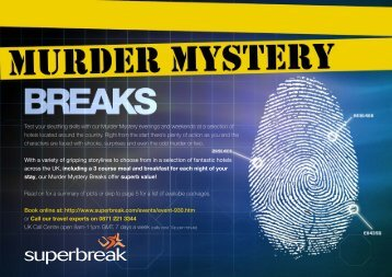Test your sleuthing skills with our Murder Mystery - Superbreak