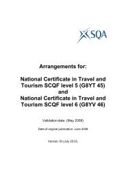 NC Travel and Tourism at SCQF levels 5 - Scottish Qualifications ...