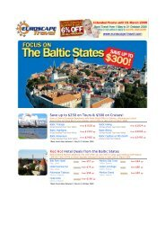 Euroscape Travel Focus on the Baltic States: Red Hot Specials ...
