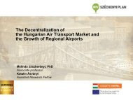 The Decentralization of the Hungarian Air Transport Market and the ...