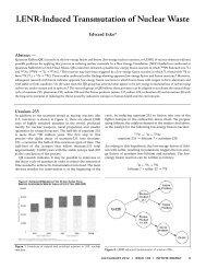 LENR-Induced Transmutation of Nuclear Waste - Infinite Energy ...