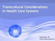 Transcultural Considerations in Health Care Systems