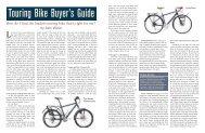Touring Bike Buyer's Guide - Adventure Cycling Association