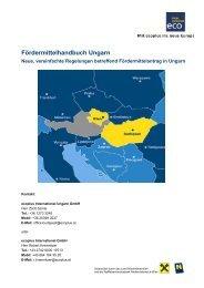 Fördermittelhandbuch Ungarn - Ecoplus International GmbH