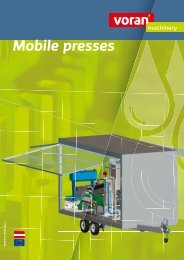 Excerpt from product range - voran Maschinen GmbH