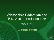 Workshop Presentation for the Bicycle and Pedestrian Law - Fall ...