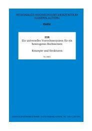 SSR - Konzepte und Strukturen