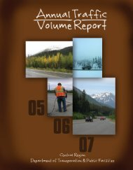 Annual Traffic Volume Report 2005 - Alaska Department of ...