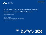 trends in the organisation of Doctoral - Groupe Coimbra