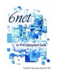 An IPv6 Deployment Guide - 6NET