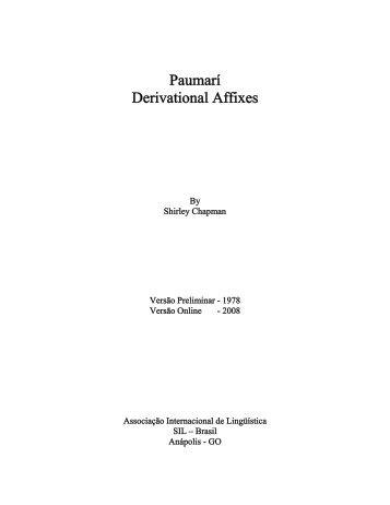 Paumarí Derivational Affixes