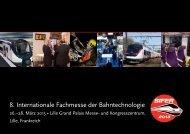 8. Internationale Fachmesse der Bahntechnologie - Sifer 2013