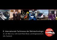 8. Internationale Fachmesse der Bahntechnologie - Sifer 2013
