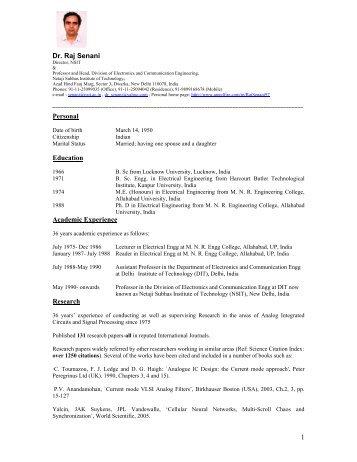 Prof. Raj Senani - Journal of Electrical and Control Engineering