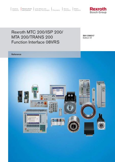 Rexroth MTC 200/ISP 200/ MTA 200/TRANS 200     - Bosch Rexroth